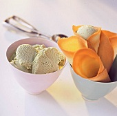 Ice cream scoops and homemade cones