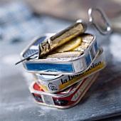 Tins of sardines