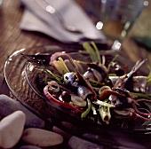 Sardines marinated in coriander seeds