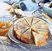 Apricot jam cake