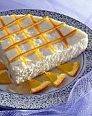 Fromage frais and orange tart