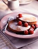 Raspberry biscuit dessert