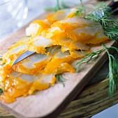 Sliced haddock