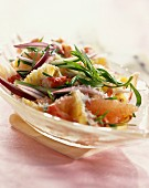 Fresh pineapple salad with crab and ginger