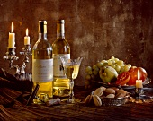 Sauterne wine and fruit
