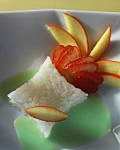 Strawberry and apple rice dessert
