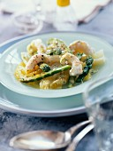 Langoustine and fennel salad with orange sauce