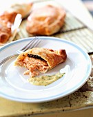 Salmon fillet in pastry crust ,Nantais butter