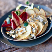 Apple, blue cheese and chicory salad