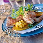 Dublin Bay prawns with mango, lime French dressing