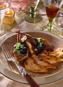 Venison chops with quince