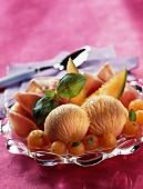 Melon sorbet and parma ham