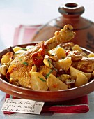 Chicken and turnip tajine