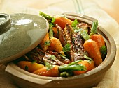 Veal ribs with young carrots