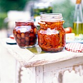 Olive and preserved tomato Antipasti