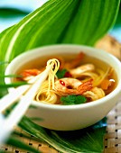 Chinese prawn and noodle soup