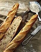 baguette sliced lengthways