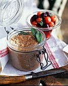 Sour cherry rillettes with vinegar