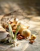 Garlic,onions and shallots