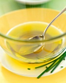 Olive oil and chives