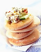 Pitta bread with feta
