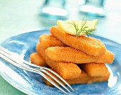 Breaded fish fingers