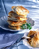 Brick pastry parcels with curried chicken