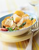 Aprikosensalat mit Parmesan