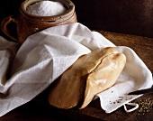 Foie gras in tea towel