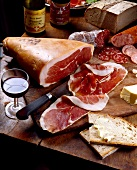 Raw ham and Savoie wine
