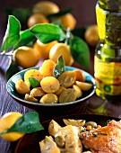 Confit citrus with olive oil
