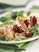 Foie gras and grape brochette