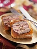 Beef and foie gras aspic terrine