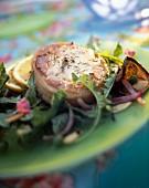 Grenadin larded fillet of veal with salad
