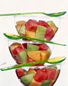 Fruchtsalat mit Honig- und Wassermelone