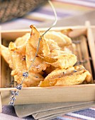 Lavander-flavored pear fritters