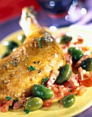 Saint Patrick's chicken with olives