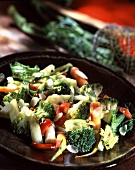 Pan-fried vegetables with almonds