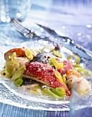 Fish and leek hotpot