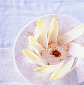 Fromage frais and paprika dip with chicory