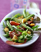 Salat mit geräucherter Entenbrust