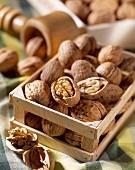 mini crate of walnuts