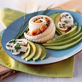 Rolled sole with avocado