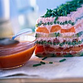 Fish and vegetable terrine