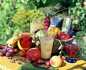 Fruit juices and fruit, outdoor