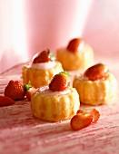 Mini strawberry charlottes