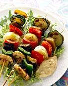Gemüsekebab mit Auberginenmayonnaise