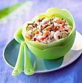 Rice and surimi salad