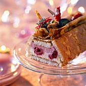 Raspberry and cream log