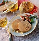 slices of duck foie gras